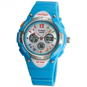 PASNEW High Quality Water-proof 100m Dual Time Unisex Child Outdoor Sport Watch Blue