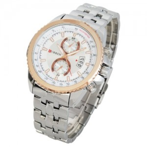 Rose Gold Date Analog Hour Dial Stainless Steel Luxury Sport Men Wrist Watch