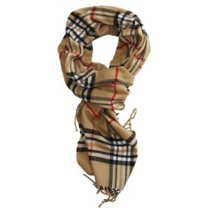 SethRoberts-Classic Cashmere Feel Men`s Winter Scarf in Rich Plaids (Camel)