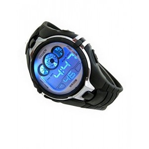 Digital Boys Sports Watch Date Alarm Stopwatch with 4 Color Backlights