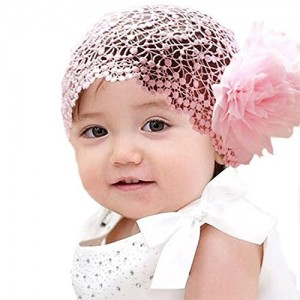 Baby Girl Toddler Cute Lace Wide Headband with Big Flower Stretch Headwear