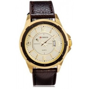 Curren Unisex Round Dial Analog Display Quartz Movement fashion exquisite Stylish Wrist Watch