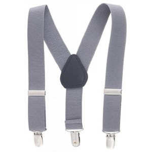 Kids and Baby Adjustable Elastic Solid Color Suspenders - 3 Sizes and 21 Colors