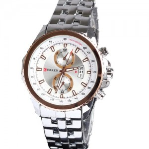 Curren Watches Men Stainless Steel Band Quartz Business Calendar Wristwatch Cheap on Sale Crn8082