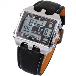 OHSEN LCD Date Day Alarm Men Digital Sport Quartz Watch OHS033