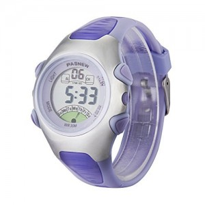 Fashion Waterproof Children Boys Girls Digital Sport Watch with Alarm, Chronograph, Date (Purple)