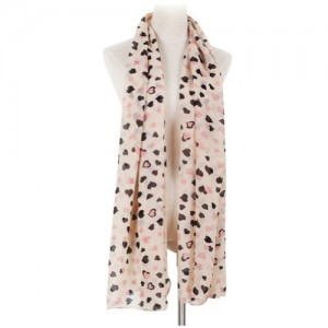 Women Sweet Heart Printed Stole Soft Scarve Chiffon Scarf Wraps Shawl