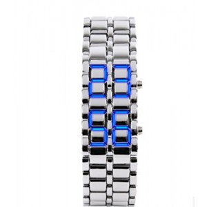 Domire Metal Strap Lava Style Digital LED Watch