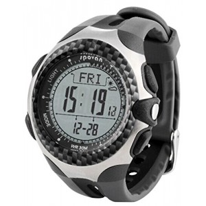 Mingo Functional Outdoor Digital Compass Barometer Pedometer Temperature Height Weather Forecast Men Watch