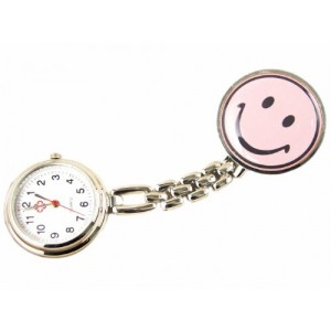 Youyoupifa Cute Smile Face Pocket Quartz Nurse Watch (Pink)