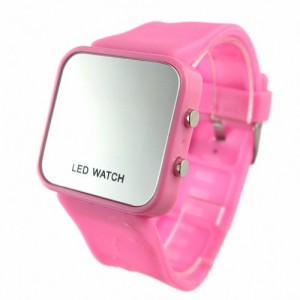 YouYouPifa Colorful Exquisite Appearance Digital LED Mirror Watch with Soft Rubber Material