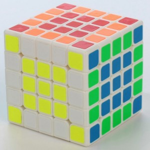 Yuxin Magic Cube Kirin 5x5x5 Puzzle, Cube White