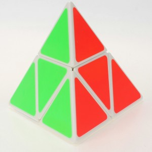 Shengshou 2-Layer Pyraminx Magic Cube White