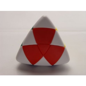 Lanlan Color-II White Corner Pillowed Shape Master Pyramorphix Puzzle Speed Cube White