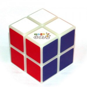 Maru 2x2 XWH Spring/Screw Magic Cube White