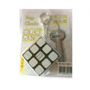Maru 3x3x3 Magic Cube Keychain Black