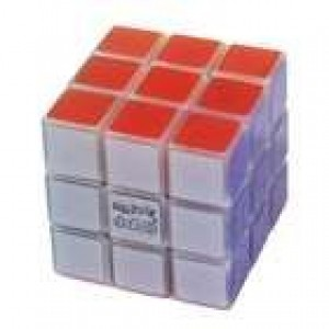 Maru 3x3x3 XWH Axis Magic Cube Transparent