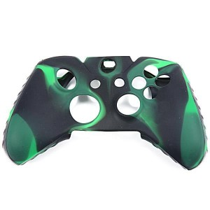 Camouflage Protective Silicone Case Cover for XBOX One Controller - Black + Green