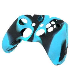 Camouflage Protective Silicone Case Cover for XBOX One Controller - Black + Blue