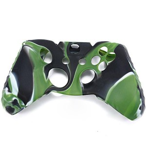 Camouflage Protective Silicone Case Cover for XBOX One Controller - Black + Green + White