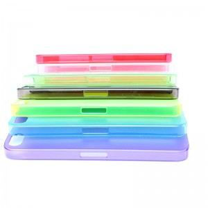 Soft PVC Protective Case for iPhone 5 (Purple)