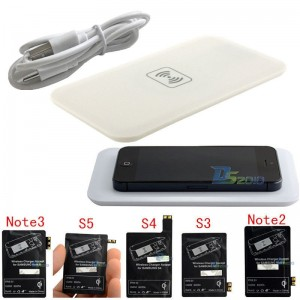 Hot Sale New Qi Wireless Charger Charging Pad+Receiver+USB Cable Kit for Samsung Galaxy S4