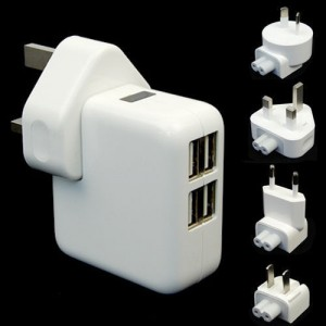 Hot Sale New 1/2/4USB Ports Wall AC Power Charger Adapter Home Travel For Samsung IPhone IPad