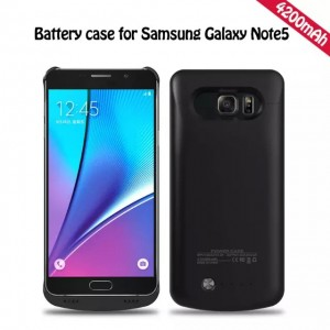 4200mAh External Battery Backup Charger Power Case Cover for Samsung Galaxy Note 5