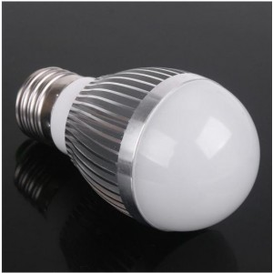 E27 3W 290 Lumen 6000K High-power White LED Light Bulb (85-265V)