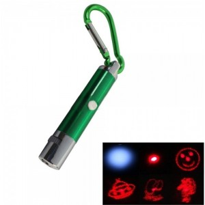 5 in 1 5mW 650nm Red Laser Pointer Keychain Green (3*LR189)