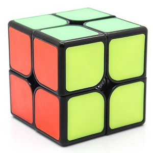 Fangshi 2x2x2 50mm Tiled Speed Cube Puzzle, Black