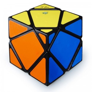 Lanlan 4-Axis Skewb  Big Stone Speed Cube Magic Cube Black