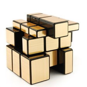 QJ Mirror Speed Puzzle, Cube Golden and Black
