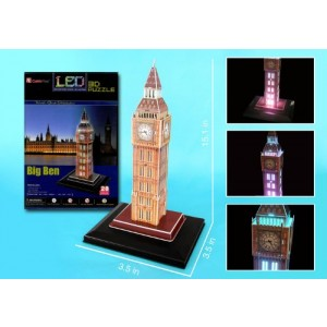 Cubic Fun Big Ben 3D Puzzle With Base and Lights