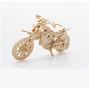 3-D Wooden Puzzle- Children and adult's educational building blocks puzzle toy Cross-country motorcycle model