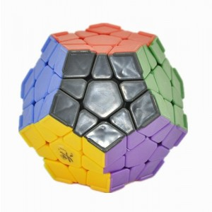 Dayan Megaminx Dodecahedron with Ridges Magic Cube Stickerless Black