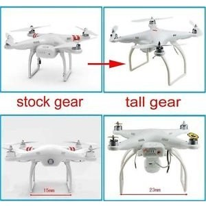 Wide & High Extend Tall Landing Gear Skid for DJI Phantom 1 2 Vision Plus FC40