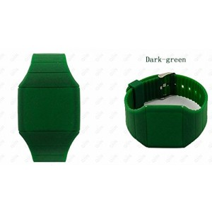 Touch Screen Colorful Ultra-thin Led Watch (dark-green)