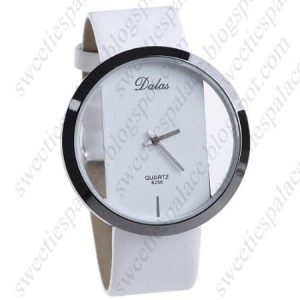 Unique Style Quartz Watch Wristwatch with Synthetic Leather Band for Lady Woman Girl Female