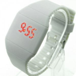 Hot Wristwatch Timepiece Gum Strap Unisex Touch Screen LED Digital Watch WHS309 (gray-6)