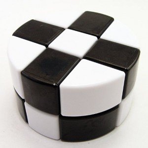 LanLan 2x3x3 Pie-shape Round Column Cube Stickerless Black & White
