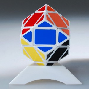 Lanlan Magic Cube 3x3 Diamond Puzzle White