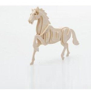 3-d Wooden Puzzle- Children and Adult's Educational Building Blocks Puzzle Toy Horse Model