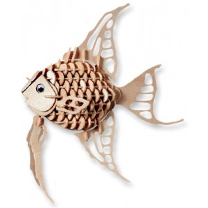 3-D Wooden Puzzle - Angel Fish -Affordable Gift for your Little One! Item #DCHI-WPZ-H010