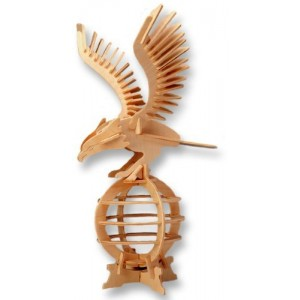 3-D Wooden Puzzle - Eagle -Affordable Gift for your Little One! Item #DCHI-WPZ-E008