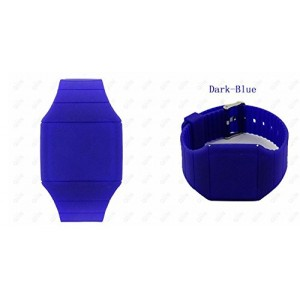 Touch Screen Colorful Ultra-thin Led Watch (dark-blue)