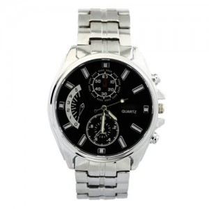 Men's Stainless Analog Accurate Time Gift Men Quartz Wrist Boys Watch