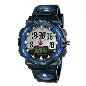 NIUBILITY Ori-0951 Blue 50 Water-proof Dual Time Unisex Sport Watch for Men