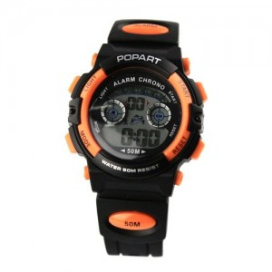 Alike Popart-183 Waterproof Digital Analog Quartz Outdoor Boy's Men's Sports Watch - Orange
