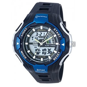 OUANGANC Water-proof Digital-analog Boys Girls Sport Digital Watch with Alarm Stopwatch Chronograph Blue